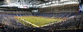 A wide angle view of Ford Field before a Detroit Lions game.