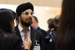 Param Singh a Property Developer who appeared on Take Me Out Series 5 and 10 at a networking event in London
