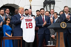 Red Sox at the White House with President Trump on May 9, 2019