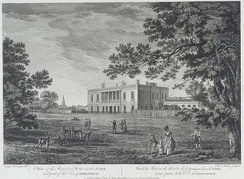The Ranger's House, Greenwich by George Robertson, 1791. Built about 1722–23 for Captain Francis Hosier. National Maritime Museum, London. (PT2659)