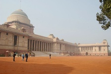 Rashtrapati Bhavan is a residence in New Delhi built for the British Viceroy.