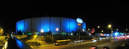 Rexall Place at night