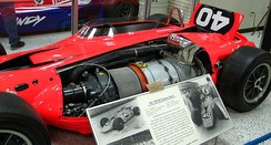 Jones's STP-Paxton Turbocar from the 1967 Indianapolis 500.