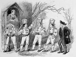 An 1852 depiction of an English mummers play