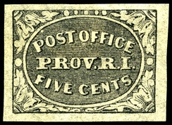 Provisional stamp from Providence, Rhode Island.