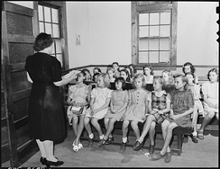 Sunday school at a Baptist church in Kentucky, US, 1946