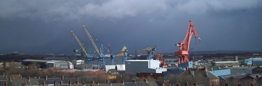 A view of the Wallsend shipyard shortly after its closure