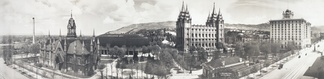Panorama of Temple Square taken in 1912