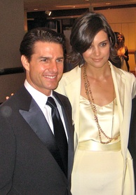 With Katie Holmes in May 2009