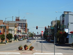 US 150 through downtown Galesburg