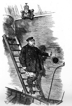 """Dropping the Pilot"", a famous caricature by Sir John Tenniel (1820–1914), first published in the British magazine Punch, 29 March 1890"