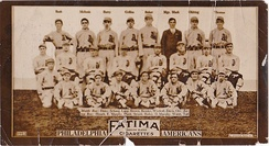 1913 Fatima baseball card of Philadelphia Athletics