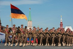 Armenian soldiers at the 2010 Moscow Victory Day Parade