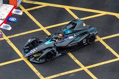 A second generation Formula E car in 2019.
