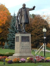 McKinley Statue in the square in front of the library (2004 photo)