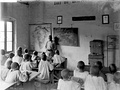 Classroom in a German East African school, c. March 1914