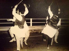Traditional dancing in Bayda in 1976