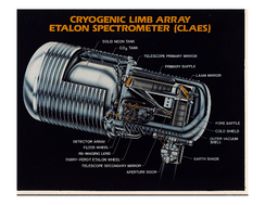 A cutaway view of the CLAES instrument.