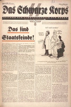 Das Schwarze Korps (The Black Corps), the official SS newspaper.