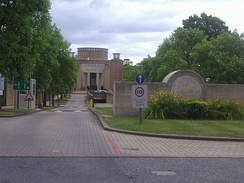 Entrance to Legal & General's offices, Furze Hill, Kingswood