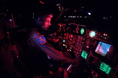 F-111 cockpit before a night flight