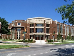 Gaylord Hall, home of the Gaylord College of Journalism and Mass Communication, finished construction in 2004.