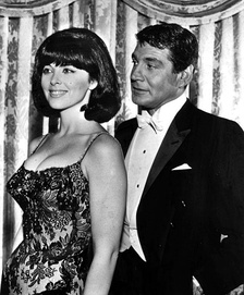 Louise with Gene Barry from the television series Burke's Law (1964).