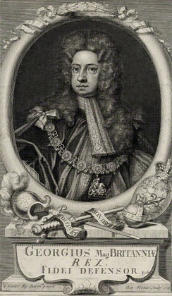 George in 1718, by George Vertue, after Sir Godfrey Kneller