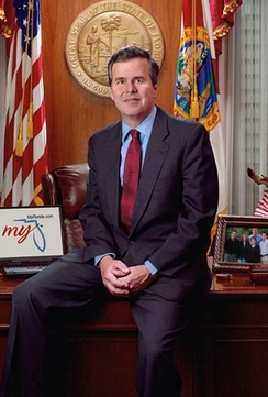 Official photo of Bush as Governor of Florida