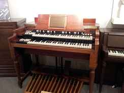 The B-3 was the most popular Hammond organ, produced from 1954 to 1974[45]