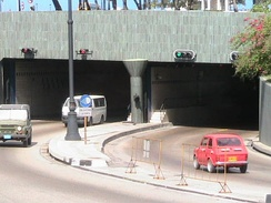 The Harbor Tunnel connects the city center with Habana del Este