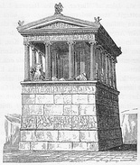 Illustration of the original Nereid Monument, tomb of King Arbinas.