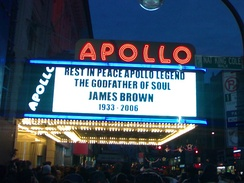 Public memorial at the Apollo Theater in Harlem