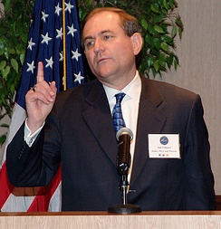 2008 Presidential candidate Jim Gilmore taking questions during a 2004 National Security Telecommunications Advisory Committee meeting