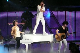 "Jonas Brothers performing ""When You Look Me in the Eyes"""