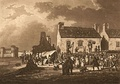 Market at Aberystwith, sepia print by Samuel Ireland, 1797