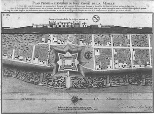 Mobile and Fort Condé in 1725.