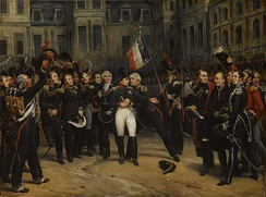 Napoleon's farewell to his Imperial Guard, 20 April 1814, by Antoine-Alphonse Montfort