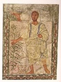 God calling out from the Burning Bush to prophet Moshe, wing panel wall painting, Dura Europos