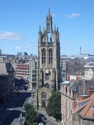 St Nicholas' Cathedral, as seen from the Castle