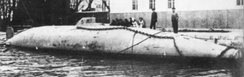 The experimental Peral Submarine, 1888