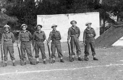 Beit Horon Battalion soldiers in the Russian Compound in Jerusalem, 1948