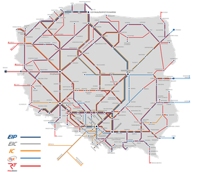 Railway connections by PKP Intercity and Polregio