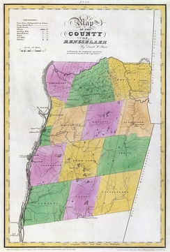 Map of Rensselaer County in 1829