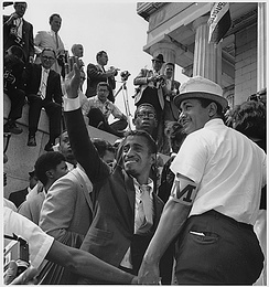 Sammy Davis Jr. during the 1963 March on Washington