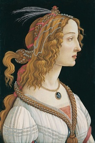 Portrait of a Young Woman (c. 1480–85) (Simonetta Vespucci) by Sandro Botticelli