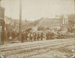 South Broadway after a May 27, 1896, tornado