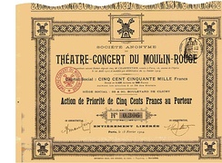 Priority ticket for the S.A. du Théatre-Concert du Moulin-Rouge, issued 15 February 1904