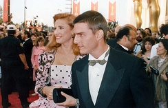 Tom Cruise and Mimi Rogers at the 1989 Oscars