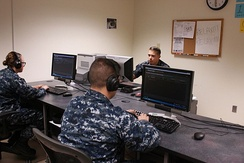 A U.S. Navy Morse Code training class in 2015. The sailors will use their new skills to collect signals intelligence.